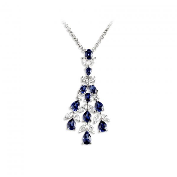 Boi Diamond and Sapphire pendant