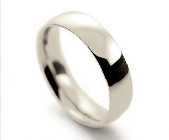 9cc043f5c9e83 9ct white gold gents 5mm court shape wedding ring